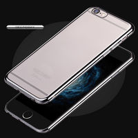 Чехол-накладка на Apple iPhone 6/6S, силикон, бампер, черный