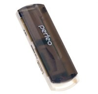 Карт-ридер, USB 2.0, Perfeo PF-4252, All in One SD/MMC+MicroSD+MS+M2+ OTG, черный, белый