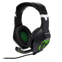 Гарнитура проводная, 3,5мм, игровая, Dialog HGK-28L Gan-Kata, полноразмерная, LED, черный, зеленый