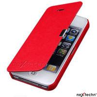 Чехол-книжка на Apple iPhone 5C, кожа, магнитный, красный