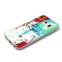 Чехол-накладка на Samsung S6 Edge силикон, ультратонкий, love