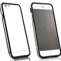 Бампер на Apple iPhone 6/6S, силикон, черный