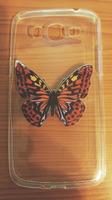Чехол-накладка на Samsung Grand 2 (G7106) силикон, ультратонкий, прозрачный, бабочка