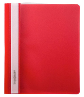 Скоросшиватель для файлов, inФОРМАТ, пластиковый, 180мкм, красный