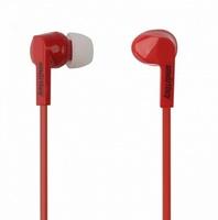Наушники Smart Buy PRIME, вакуумные, 1.2 м, динамики 10мм, 3 пары вставок, красный (SBE-130)