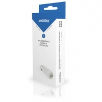 Автомобильное зарядное устройство USB, SmartBuy, 2.1А, 1xUSB, белый (SBP-1504)