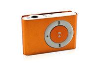 MP3-плеер, клипса, microSD, алюминий, оранжевый