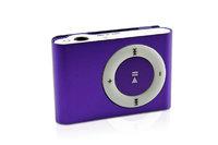 MP3-плеер, клипса, microSD, алюминий, фиолетовый
