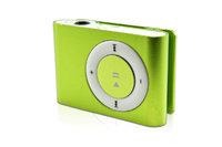MP3-плеер, клипса, microSD, алюминий, зеленый