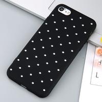 Чехол-накладка на Apple iPhone 7/8, силикон, dot, черный