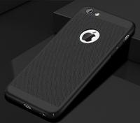 Чехол-накладка на Apple iPhone X/Xs, пластик, перфорация, черный