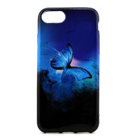 Чехол-накладка на Apple iPhone 7/8 Plus, силикон, colorfull, butterfly