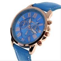 Часы наручные Geneva, ц.синий, р.синий, кожа