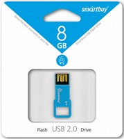 Память USB 2.0 Flash, 8GB, Smart Buy BIZ Blue