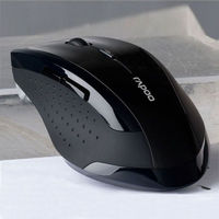 Мышь беспроводная, Rapoo, оптическая, 5кн, матовая, черный