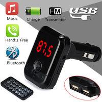 FM-модулятор, Noname, Bluetooth, microSD, 2xUSB, 5кн, пульт