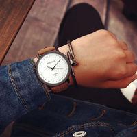 Часы наручные Rosinga, ц.белый, р.коричневый, кожа