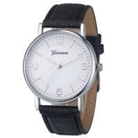 Часы наручные Geneva, ц.белый, р.черный, кожа Д01227