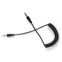 Кабель аудио AUX  jack 3.5мм - jack 3.5мм, 1м, витой, гелевый, неон, цветной