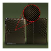 Чехол Smart-cover для Apple iPad 2/3/4, карбон, коричневый