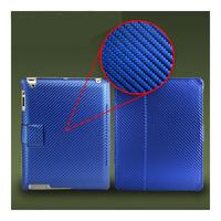 Чехол Smart-cover для Apple iPad 2/3/4, карбон, синий