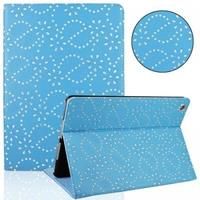 Чехол Smart-cover для Apple Ipad Air, полиуретан, стразы, голубой