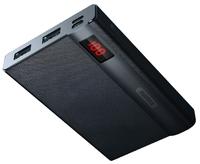 Портативный аккумулятор PowerBank 10000mAh, Remax RPP-53, 2хUSB, черный