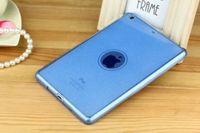 Чехол-накладка для Apple iPad mini 1,2,3, силикон, блестящий, голубой