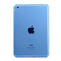Чехол-накладка для Apple iPad mini 1,2,3, силикон, прозрачный, синий