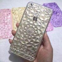 Чехол-накладка на Apple iPhone 6/6S Plus, силикон, кристаллы, прозрачный