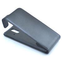 Флип-кейс на HTC One E8, кожа, черный
