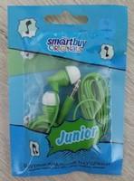 Наушники Smart Buy JUNIOR вакуумные, 1.2 м. зеленый (SBE-510)