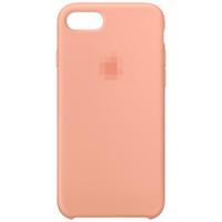 Чехол-накладка на Apple iPhone XS Max, original design, микрофибра, с лого, светло-персиков