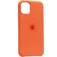 Чехол-накладка на Apple iPhone XS Max, силикон, original design, микрофибра, с лого, оранжевый