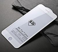 Защитное стекло для Apple iPhone 7 Plus (8 Plus) на дисплей, 4D, белый