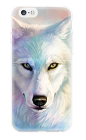 Чехол-накладка на Apple iPhone 6/6S, силикон, colorfull, aimals white wolf