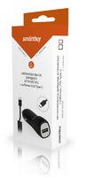 Автомобильное зарядное устройство USB, SmartBuy, 2.1А, 1xUSB, + кабель Type-C витой (SBP-1503C-V)