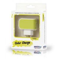 Сетевое зарядное устройство USB, SmartBuy COLOR CHARGE, 2.1A, 1xUSB, желтый (SBP-8020)