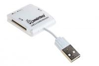 Карт-ридер, USB 2.0, Smartbuy SB54-W/SBR-713-W, All in One