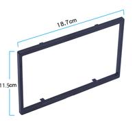 Рамка магнитолы 2DIN, универсальная, 18.7 x 11.5 см, черная