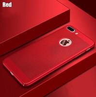 Чехол-накладка на Apple iPhone 5/5S, пластик, перфорация, красный