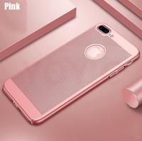 Чехол-накладка на Apple iPhone 5/5S, пластик, перфорация, розовый