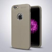 Чехол-накладка на Apple iPhone 5/5S, силикон, под кожу, YOYIC, бежевый