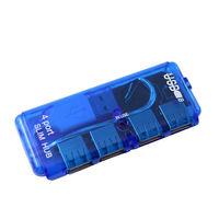 USB-хаб 2.0, 4 порта, синий
