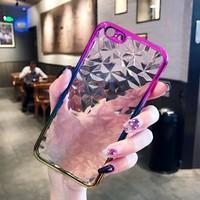 Чехол-накладка на Apple iPhone 7/8 Plus, силикон, 3D, кристаллы, полупрозраный, розово-золотистый