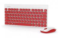 Набор беспроводной клавиатура + мышь, Smart Buy SBC-220349AG-RW, мини, красно-белый