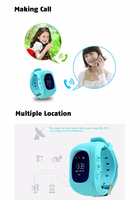 Смарт-часы Q50, детские, Sim, OLED, GPRS, GPS, голубой