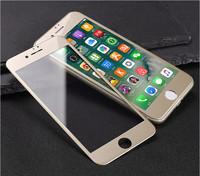 Защитное стекло для Apple iPhone 7 (8) на дисплей, 3D, золотистый