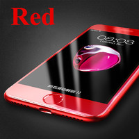 Защитное стекло для Apple iPhone 7 (8) на дисплей, 3D, красный