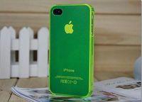 Чехол-накладка на Apple iPhone 4/4S, пластик, тонкий, матовый, зеленый